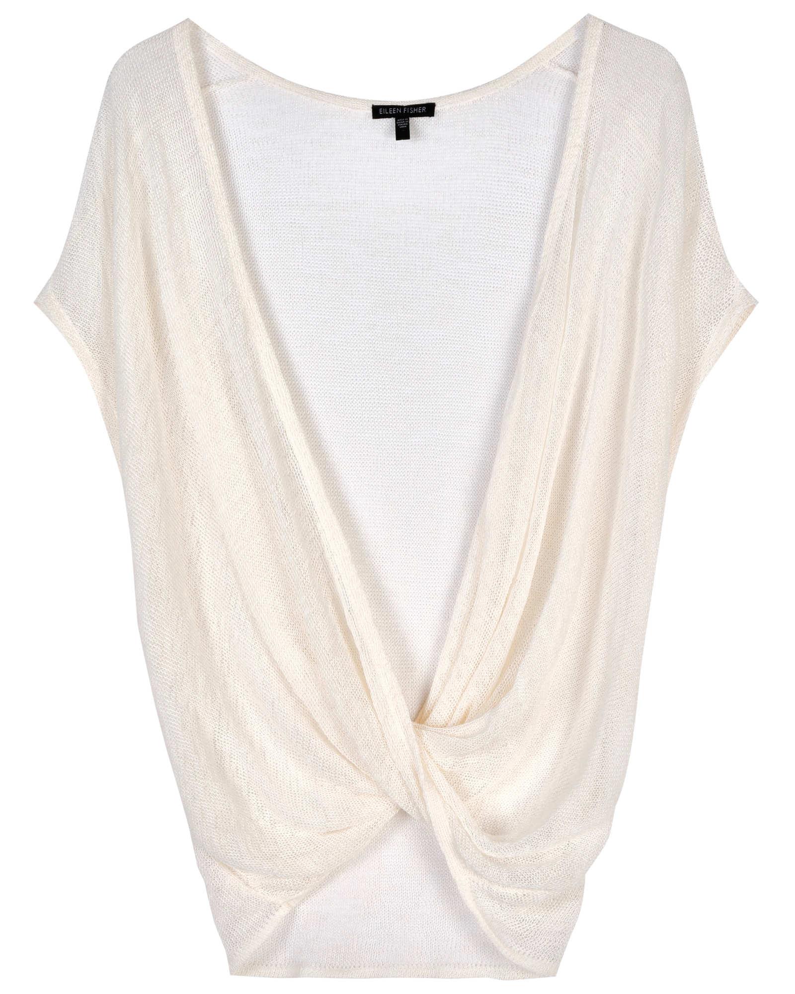 Drapery Linen Crimp Pullover