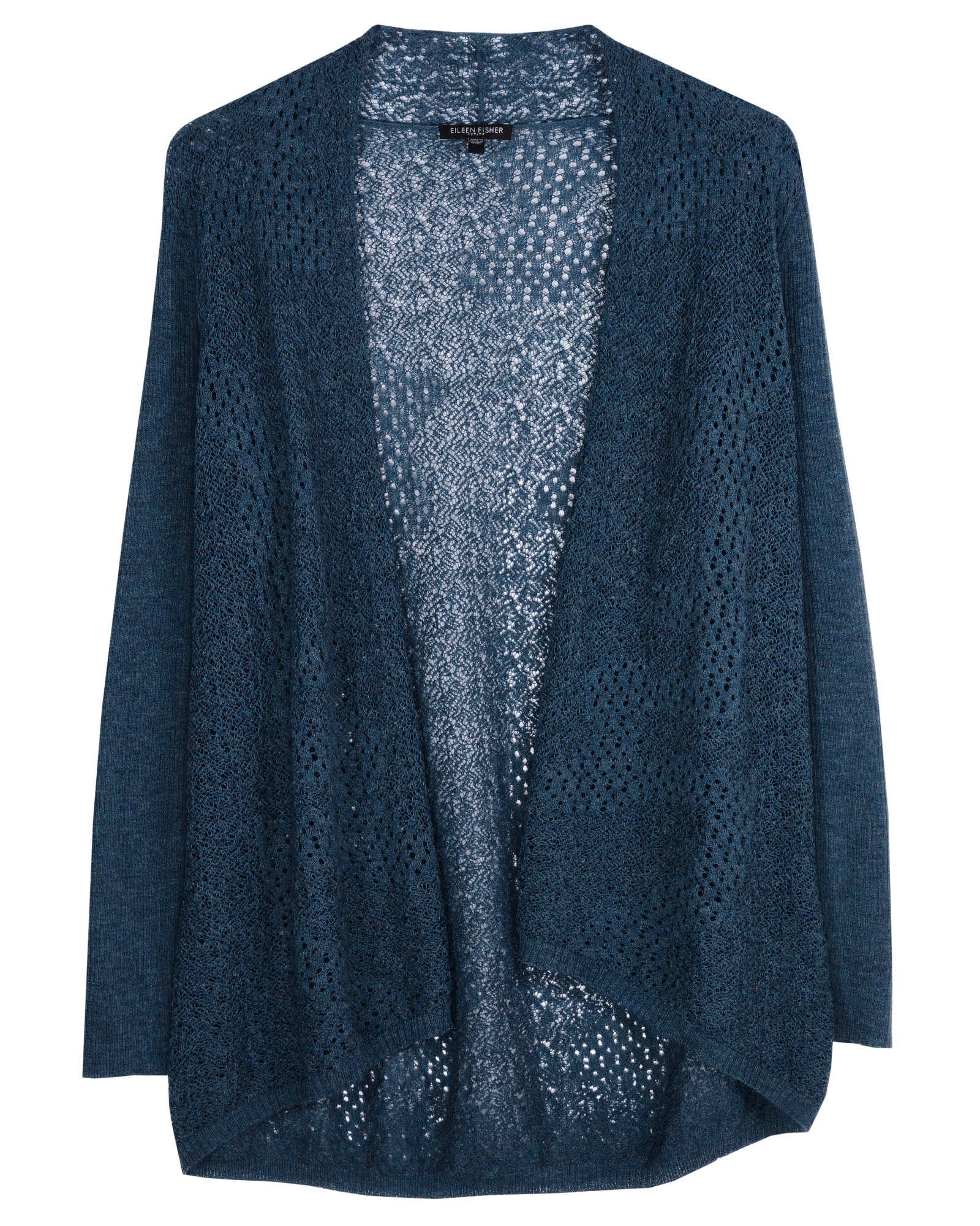 Washable Wool Crepe Lace Cardigan