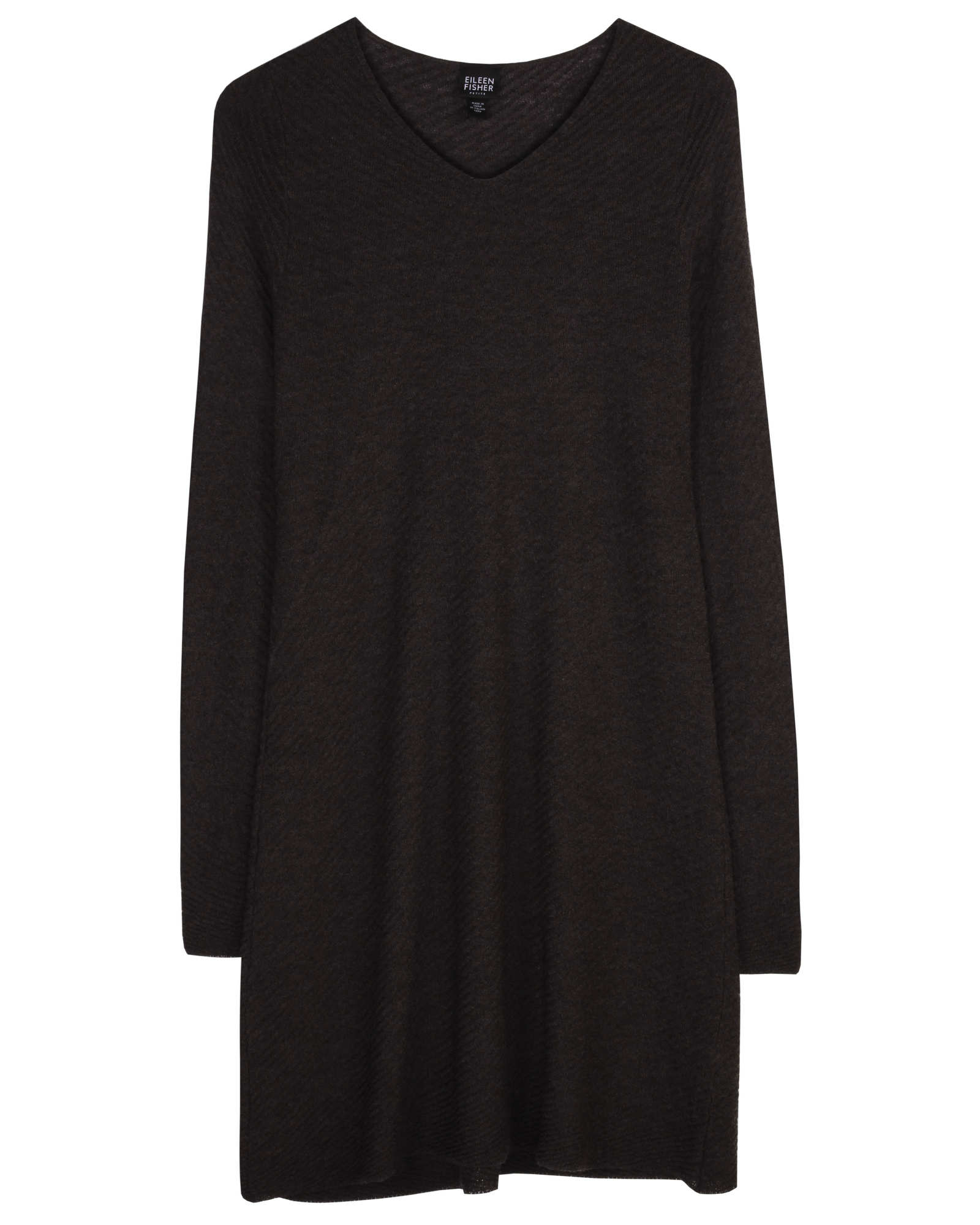 Washable Wool Crepe Diagonal Dress