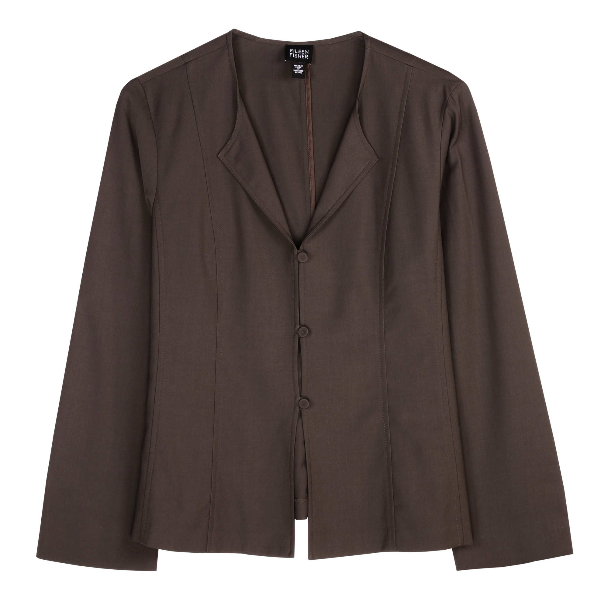 Tropical Viscose Wool Stretch Jacket