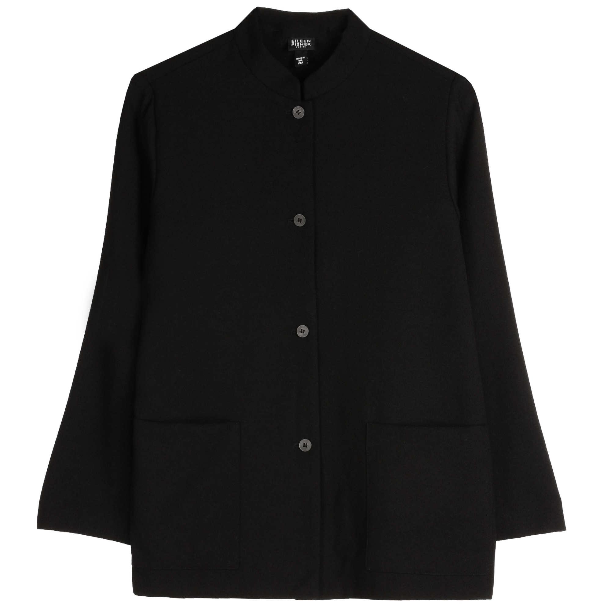Raffia Wool Weave w/Drapey Wool Jacket