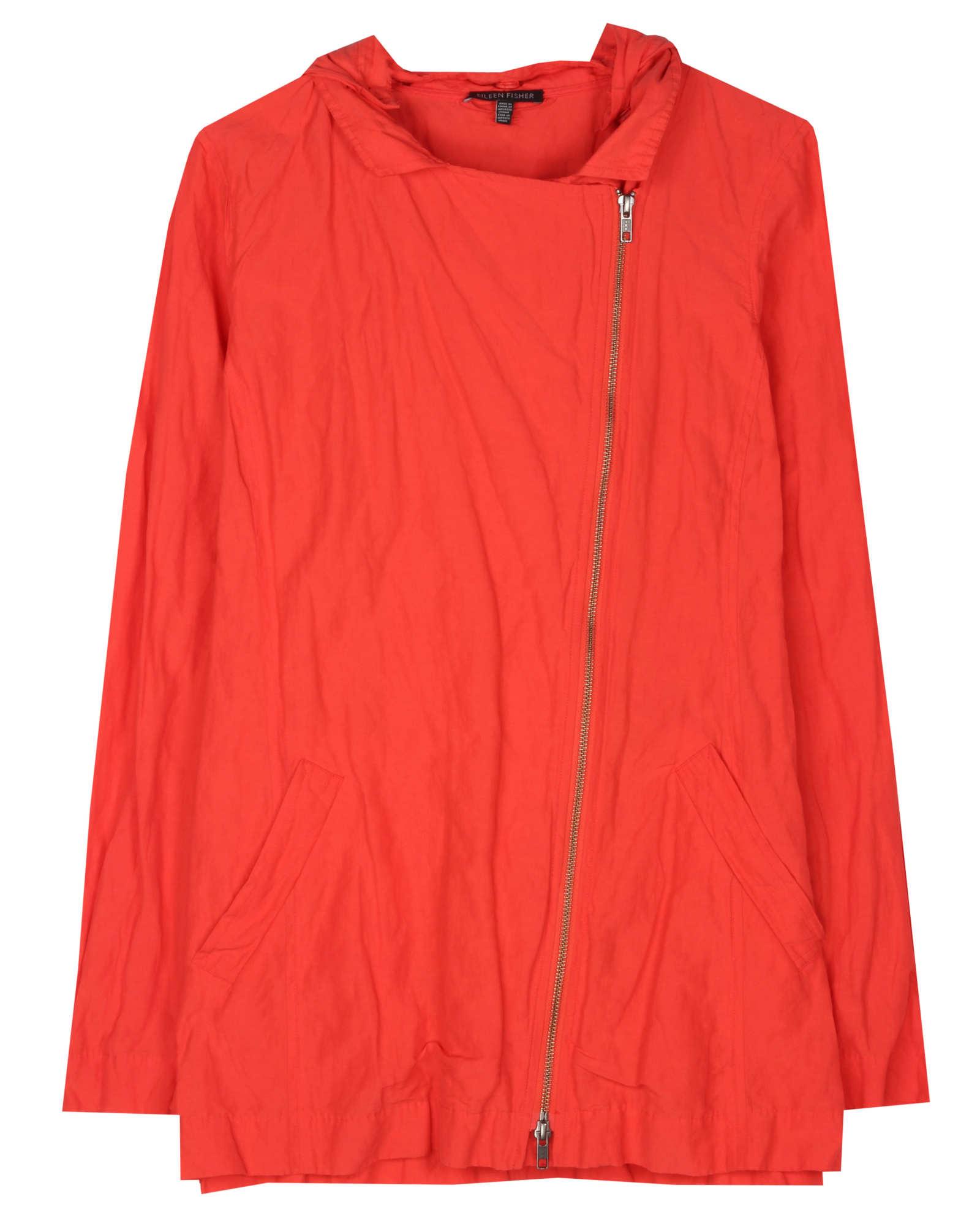 Rumpled Cotton Steel Jacket