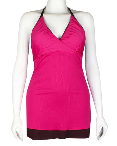 Main product image: Women's Layered Mesh Halter Top