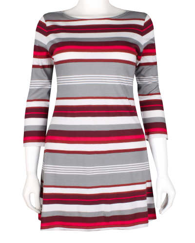 W's 3/4-Sleeved Au Bateau Dress