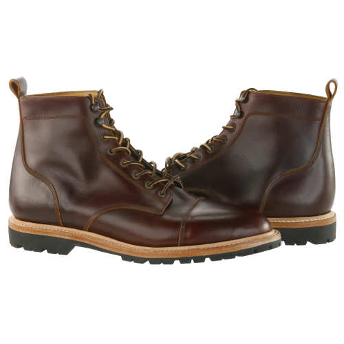 The Cap Toe Moto Boot