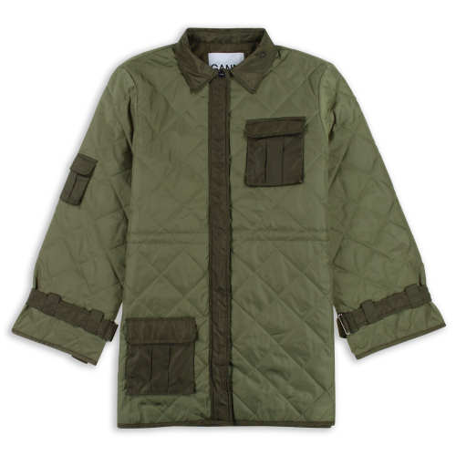 Ganni - Quilted Ripstop Jacket