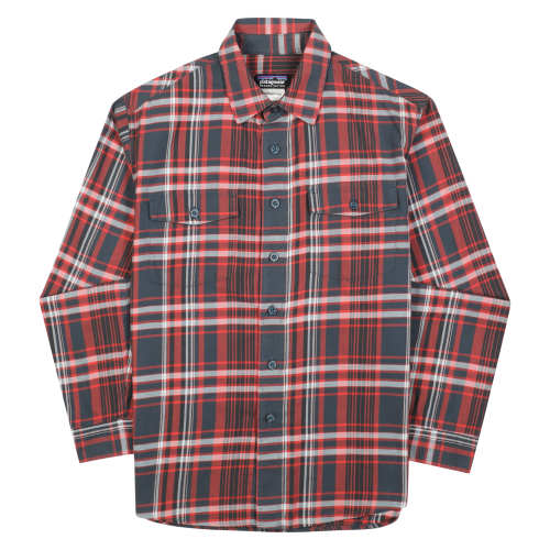 Main product image: Men's Long-Sleeved Buckshot Flannel Shirt