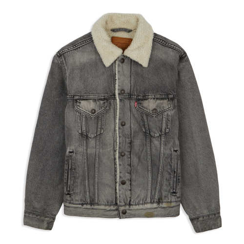 Main product image: Vintage Fit Sherpa Trucker Jacket