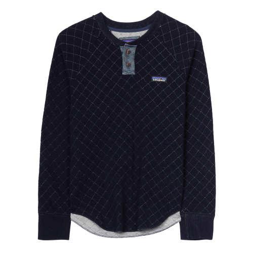 Main product image: Women's Wool Blend Diamond Quilt Henley