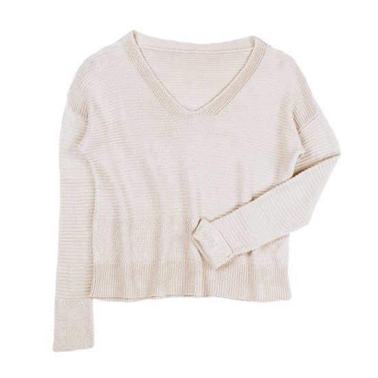 Organic Linen Texture Pullover