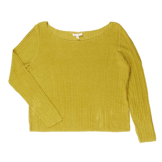 Fine Gauge Organic Linen Variegated Rib Pullover
