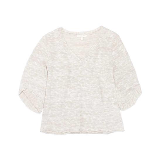 Melange Linen Grain Pullover