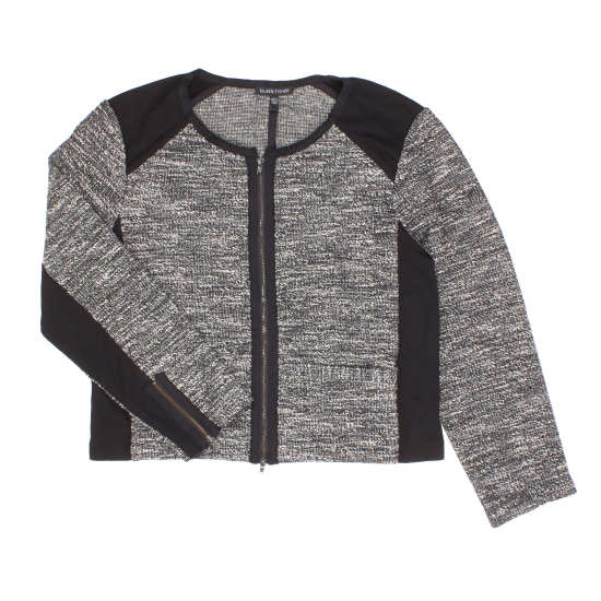 Tweedy Knitted Cotton Jacket