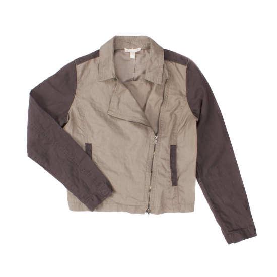 Coated Organic Linen Jacket