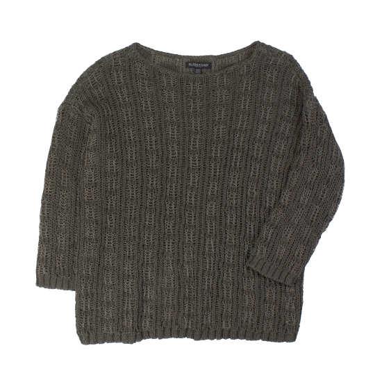 Crisp Cotton & Organic Linen Jacquard Pullover