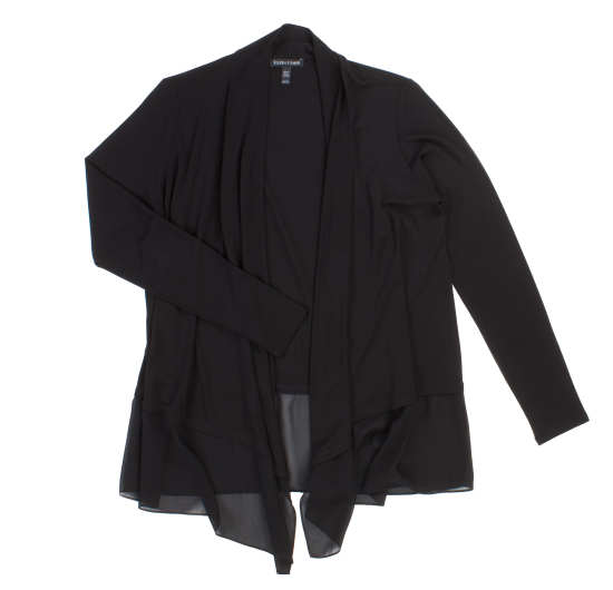 Stretch Silk Jersey with Sheer Silk Cardigan