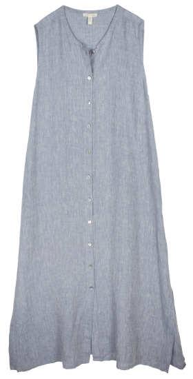 Yarn-Dyed Handkerchief Linen Dress