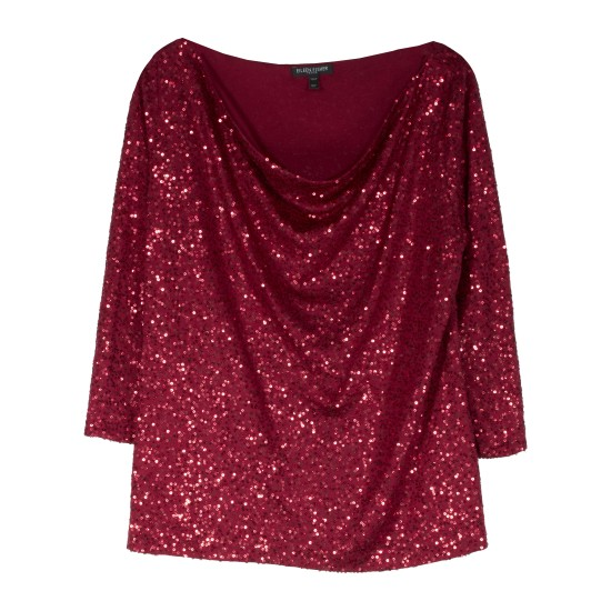 Sequin Stretch Blouse