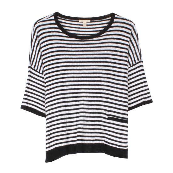 Organic Linen Rib Stripe Pullover