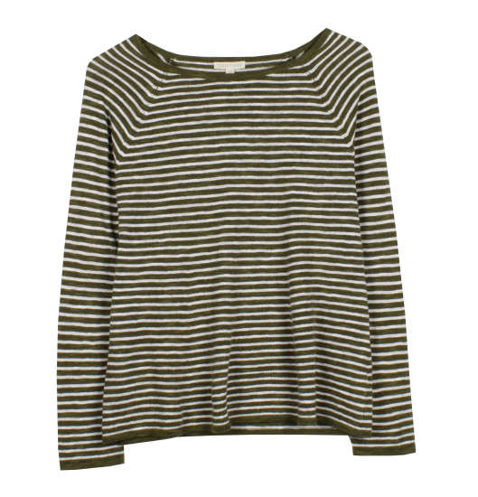 Striped Organic Linen Cotton Slub Pullover