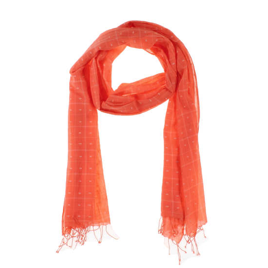 Handloomed Organic Cotton Jamdani Dashes Scarf