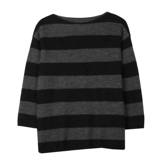 Felted Merino Stripe Pullover