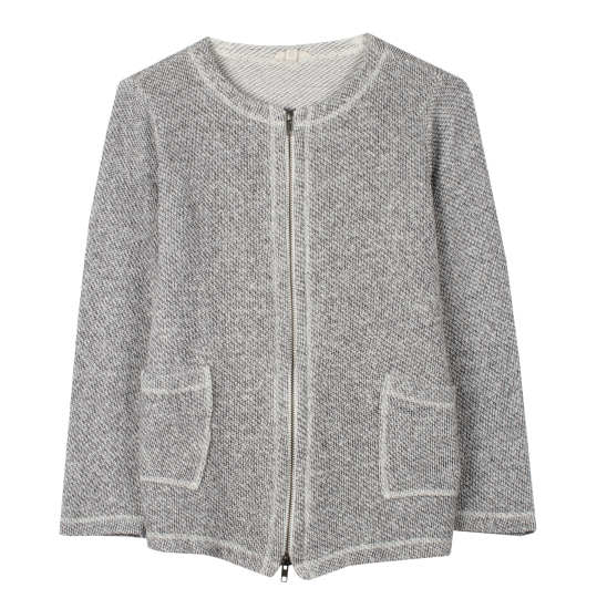Twisted Organic Cotton Terry Jacket