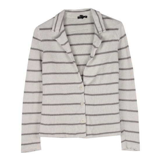 Cotton Metallic Stripes Jacket