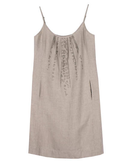 Organic Linen with Sequins Dress