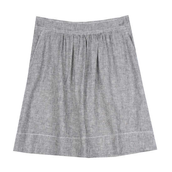 Ministripe Chambray Skirt