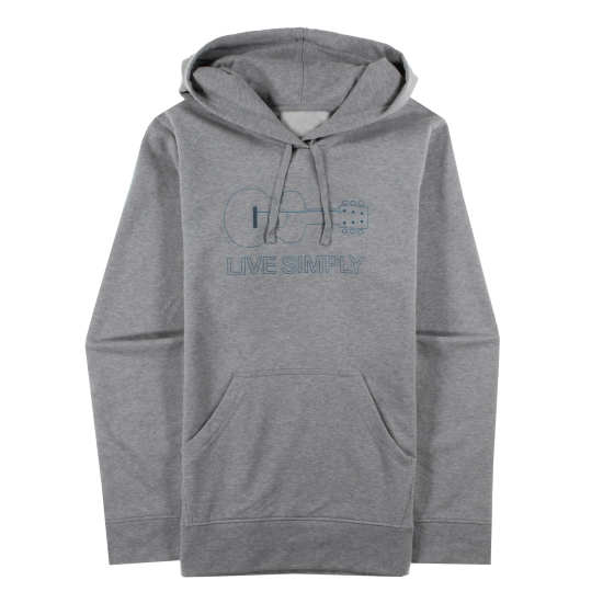 W's Live Simply® Guitar Midweight Pullover Hooded Sweatshirt