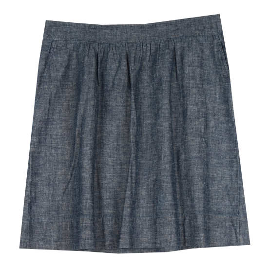 Hemp & Organic Cotton Chambray Skirt