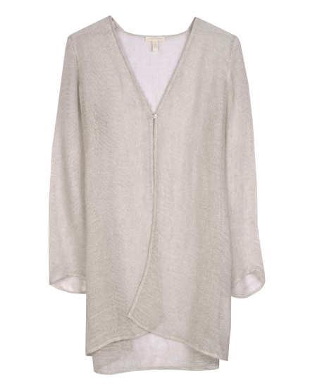Organic Linen Mesh Cardigan