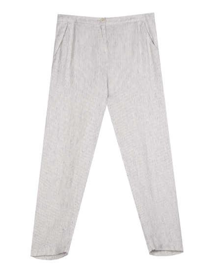 Slub Stripe Organic Linen Pant
