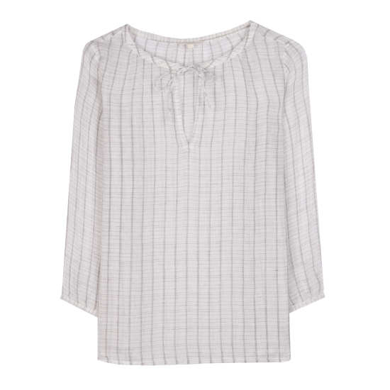 Linen Gauze Windowpane Tunic