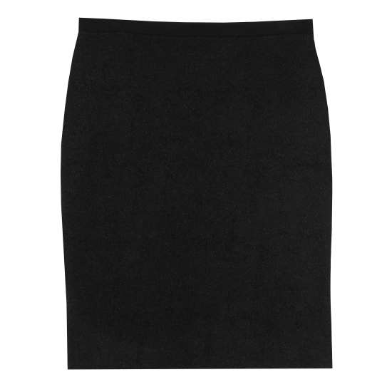 Felted Merino Cotton Diagonal Jacquard Skirt