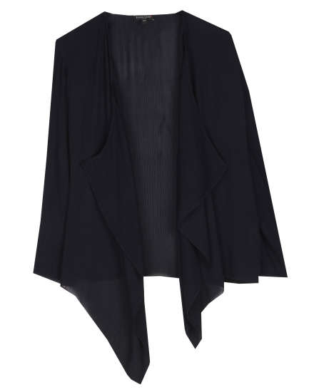 Silk Crinkle Pintuck Cardigan