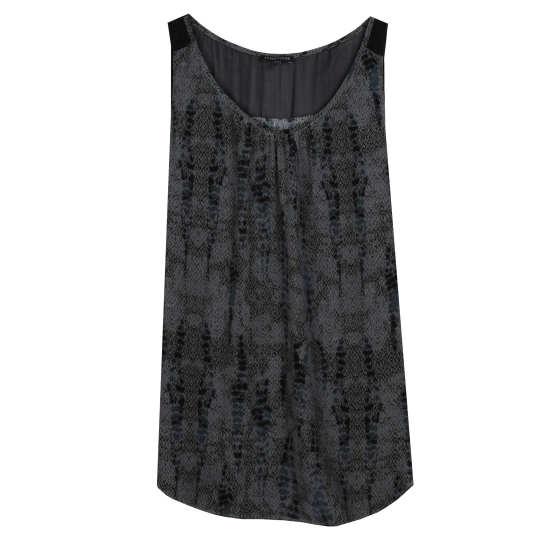 Lace Printed Silk Tank
