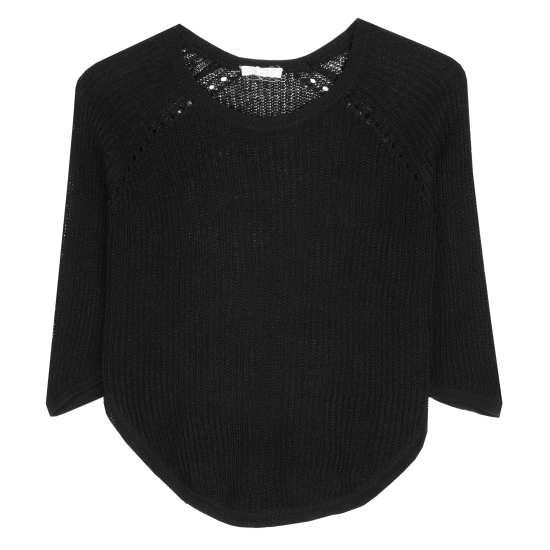 Fine Gauge Linen Ridged Pullover