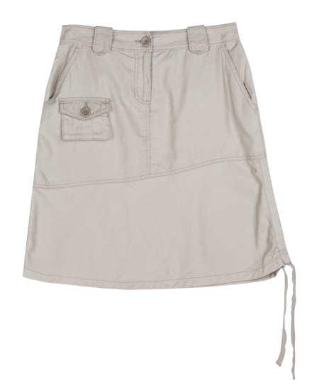 Channeled Cotton Knit Skirt