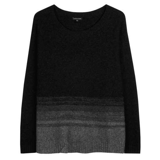 Supersoft Yak and Merino Ombre Stripe Pullover