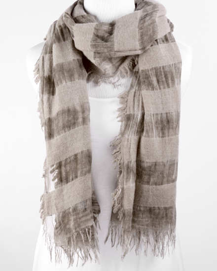 Wool Modal Bands Scarf