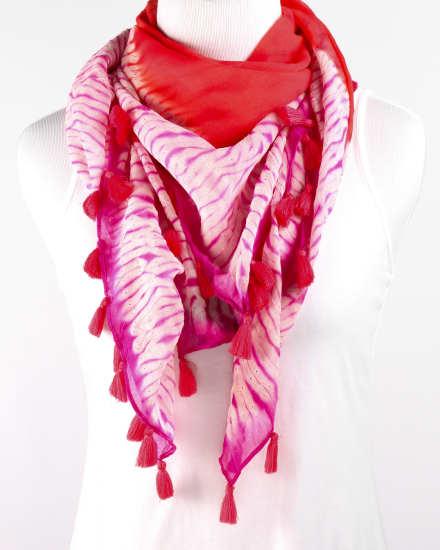 Color Field Shibori Silk Georgette Scarf