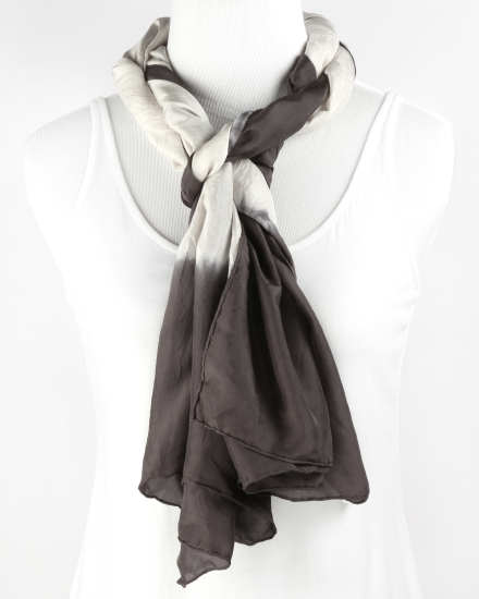 Silk Color Field Shibori Scarf