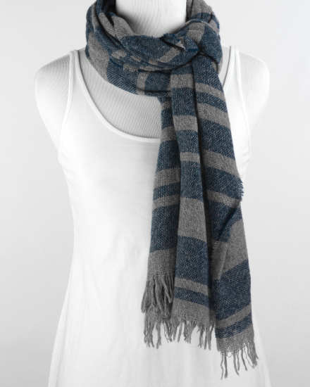 Linen Rayon Tweed Scarf