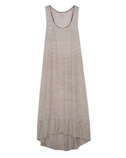 Linen Jersey Stripe Dress