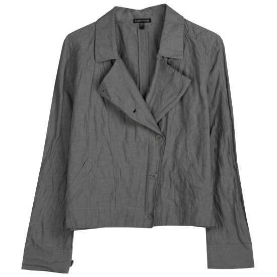 Rumpled Organic Cotton Steel Jacket