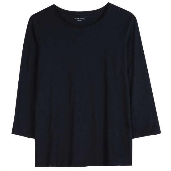 Slubby Organic Cotton Jersey Blouse