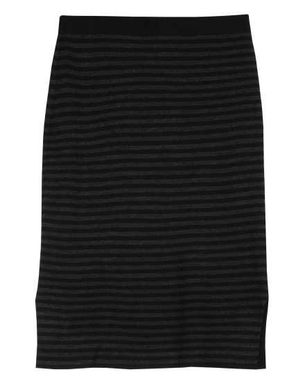 Fine Merino Doubleknit Stripe Skirt