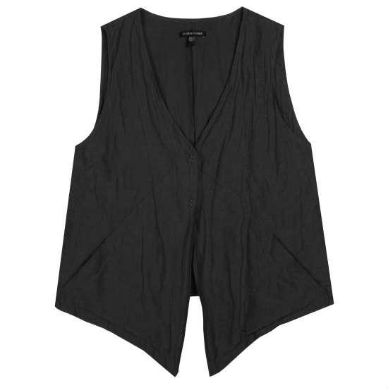 Rumpled Cotton Steel Vest
